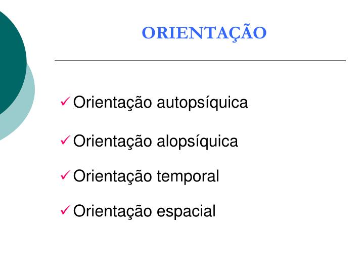ORIENTAÇÃO