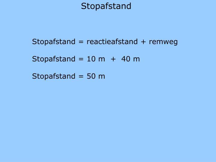 Stopafstand
