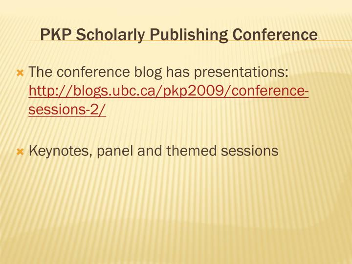 PKP Scholarly Publishing Conference