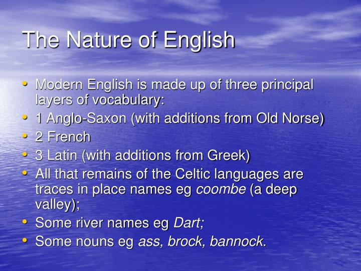 The Nature of English