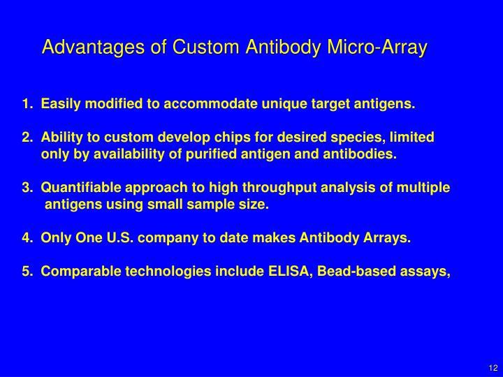 Advantages of Custom Antibody Micro-Array