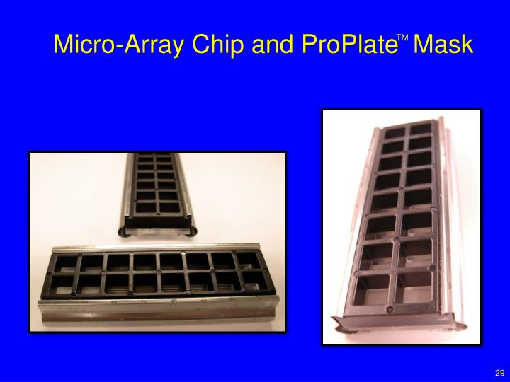 Micro-Array Chip and ProPlate  Mask