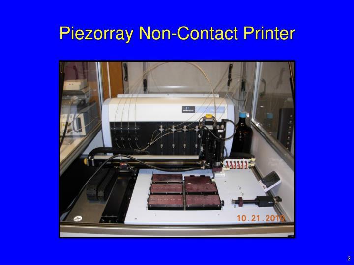 Piezorray Non-Contact Printer