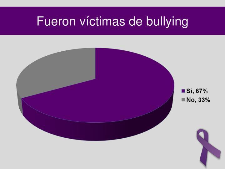 Fueron víctimas de bullying
