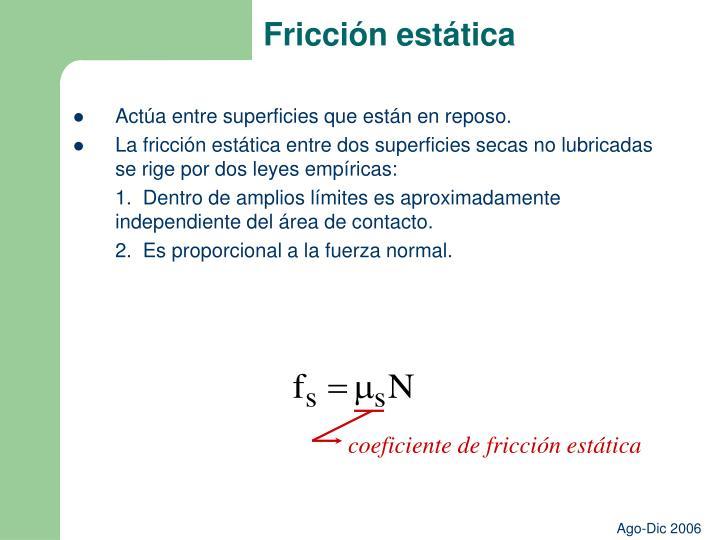 Fricción estática