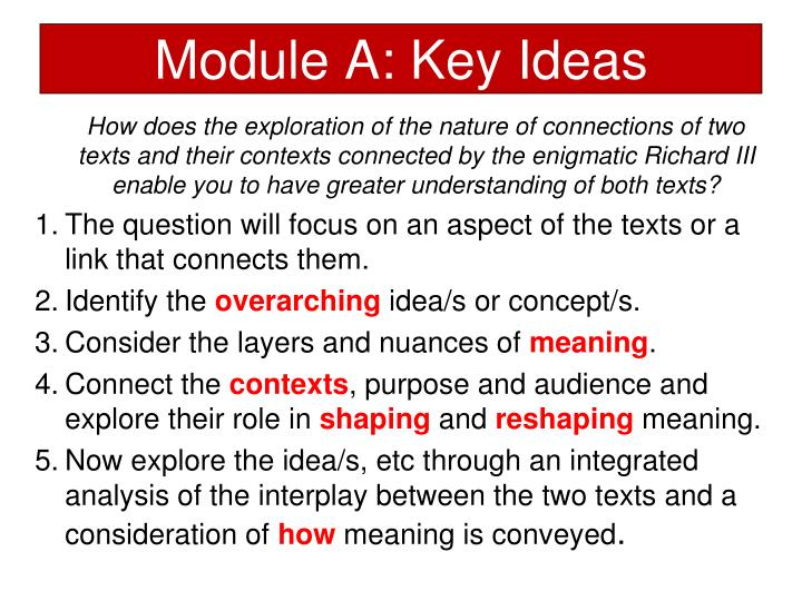 Module A: Key Ideas