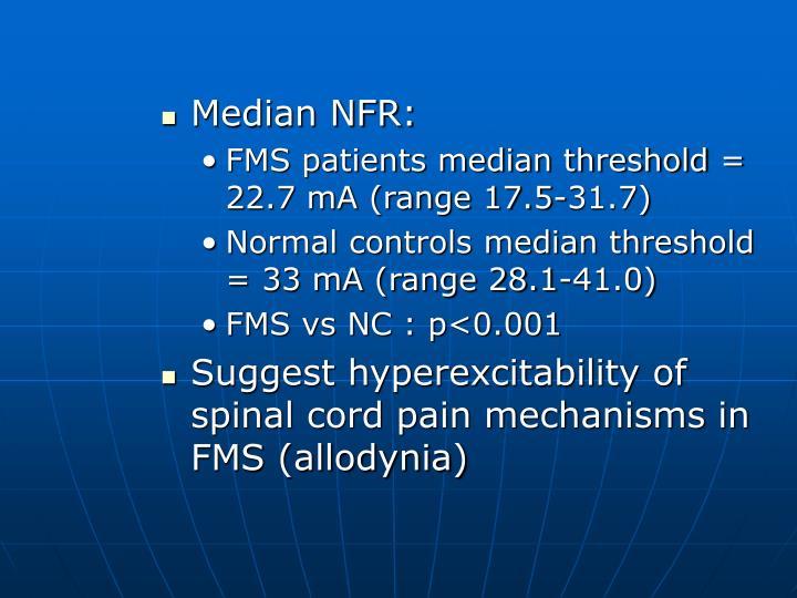 Median NFR:
