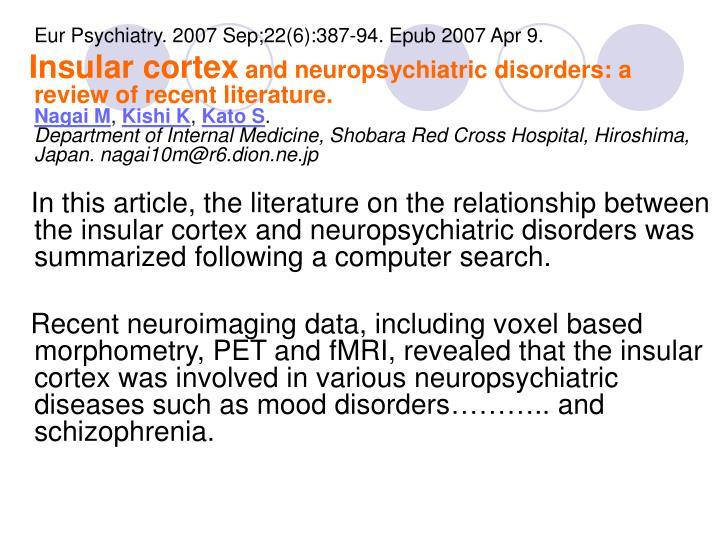 Eur Psychiatry. 2007 Sep;22(6):387-94. Epub 2007 Apr 9.