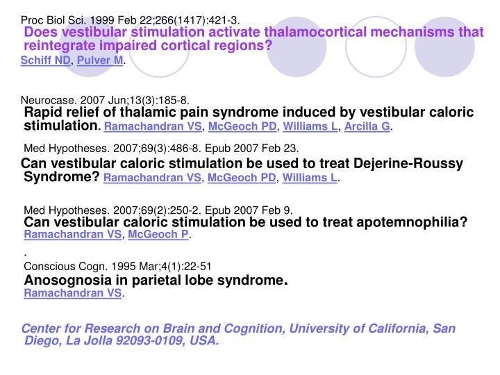 Proc Biol Sci. 1999 Feb 22;266(1417):421-3.