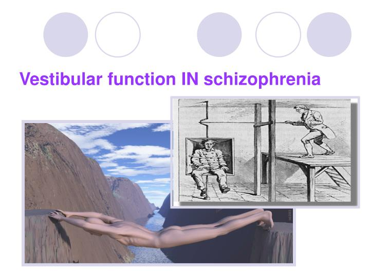 Vestibular function IN schizophrenia