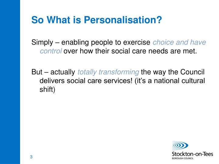 So what is personalisation