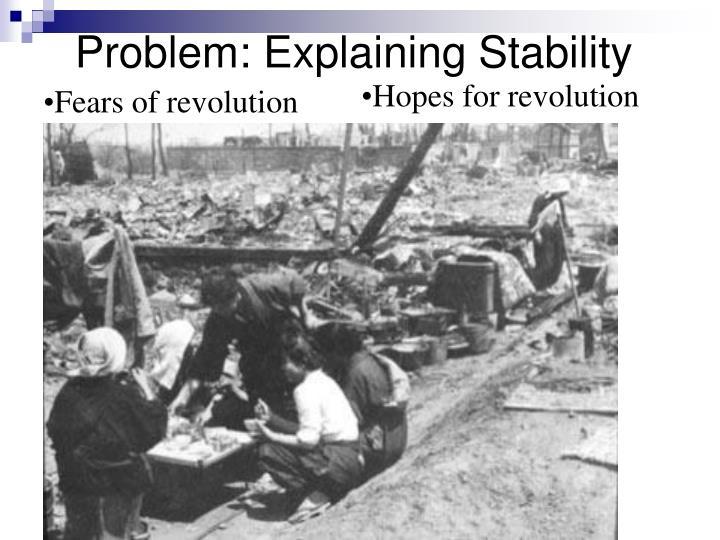 Problem: Explaining Stability