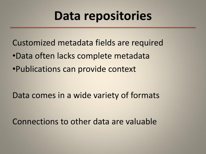 Data repositories