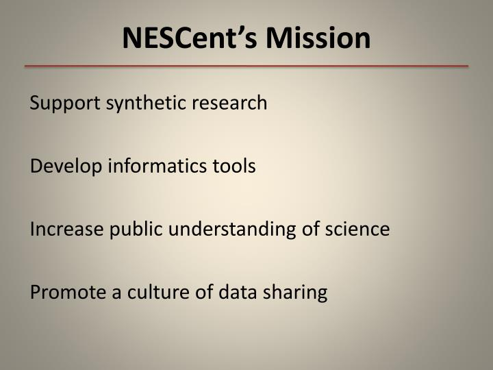 NESCent's Mission