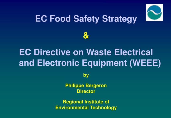 EC Food Safety Strategy