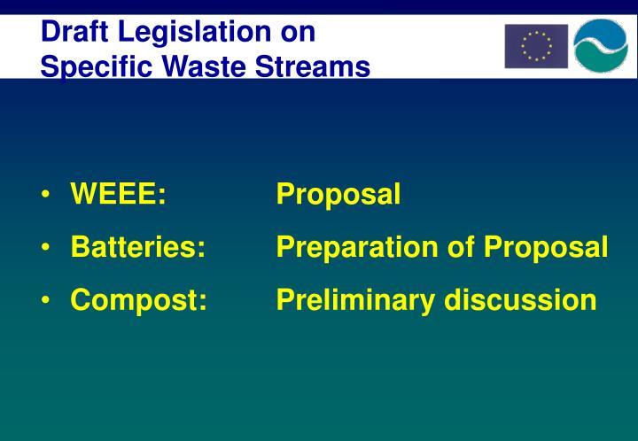 Draft Legislation on Specific Waste Streams