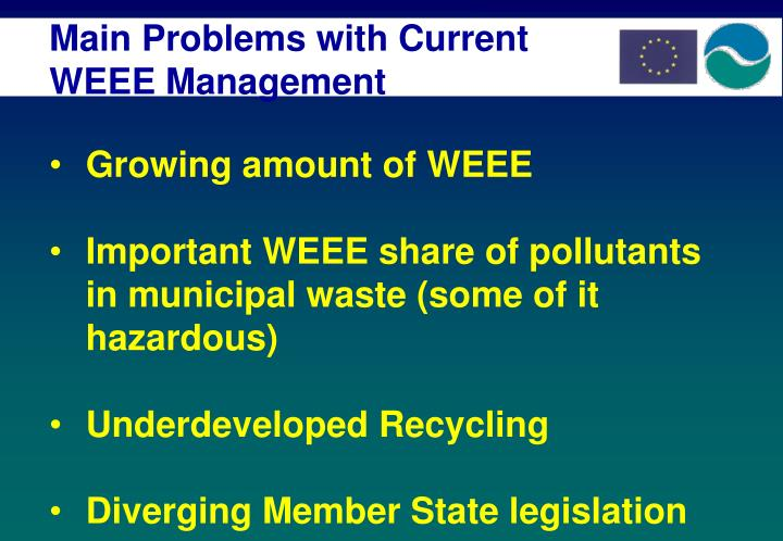 Main Problems with Current WEEE Management