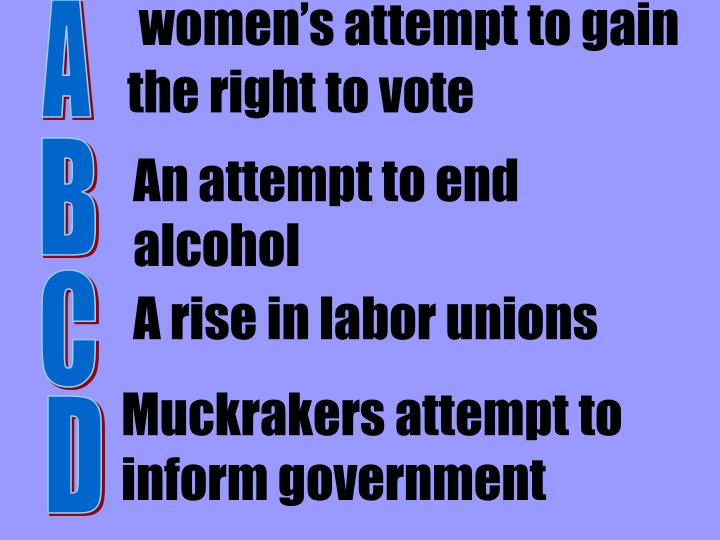 women's attempt to gain the right to vote