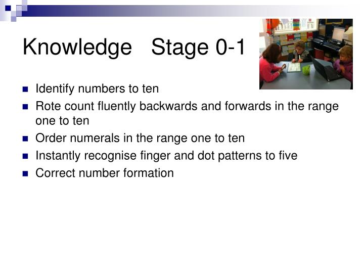 Knowledge   Stage 0-1