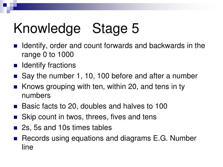 Knowledge   Stage 5