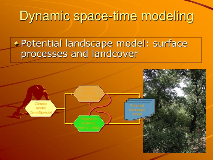 Potential landscape model: surface processes and landcover