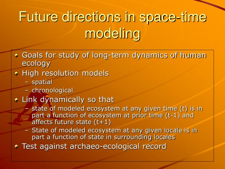 Goals for study of long-term dynamics of human ecology