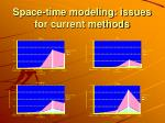 space time modeling issues for current methods1