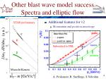 other blast wave model success spectra and elliptic flow