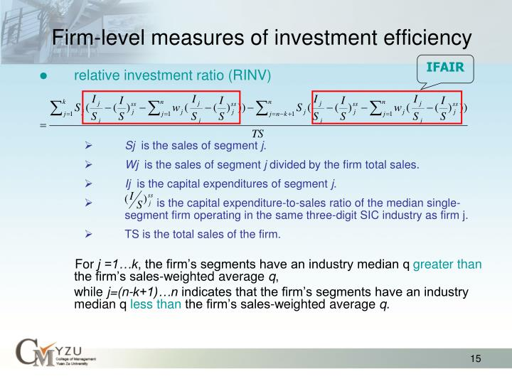 Firm-level measures of investment efficiency