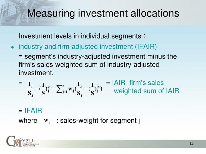 Measuring investment allocations