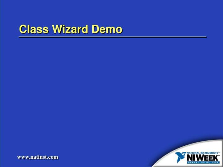 Class Wizard Demo