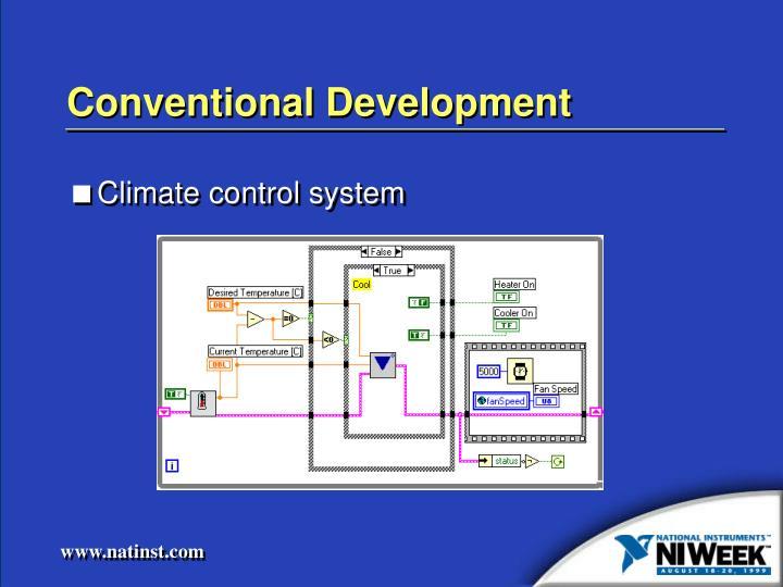 Conventional Development