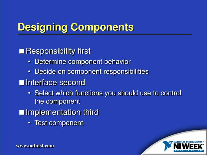 Designing Components