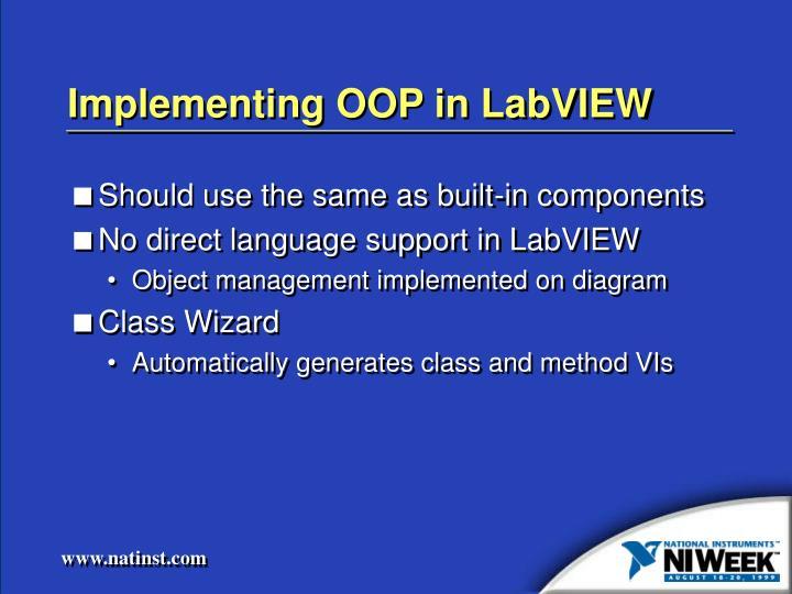 Implementing OOP in LabVIEW