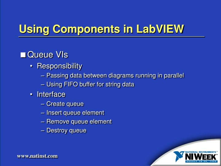 Using Components in LabVIEW