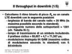 il throughput in downlink 1 5