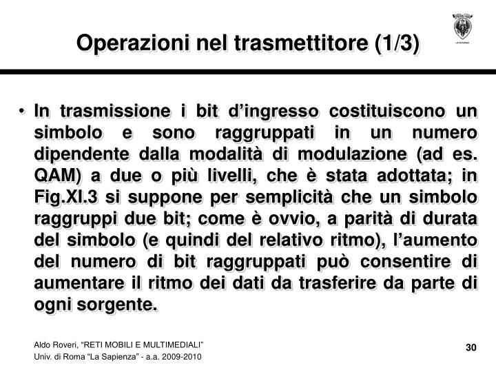 Operazioni nel trasmettitore (1/3)