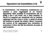 operazioni nel trasmettitore 1 3