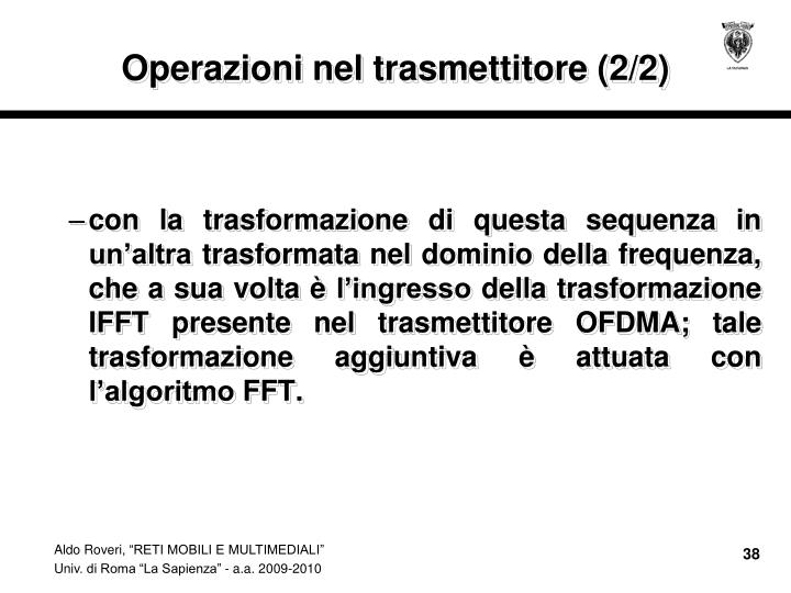 Operazioni nel trasmettitore (2/