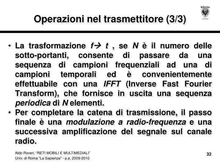Operazioni nel trasmettitore (3/