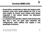 tecniche mimo 3 5