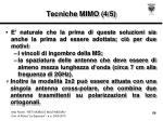 tecniche mimo 4 5