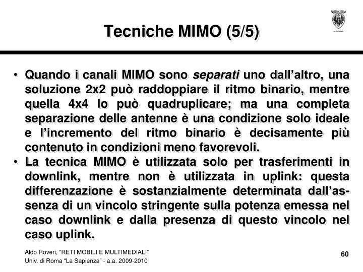 Tecniche MIMO (5/