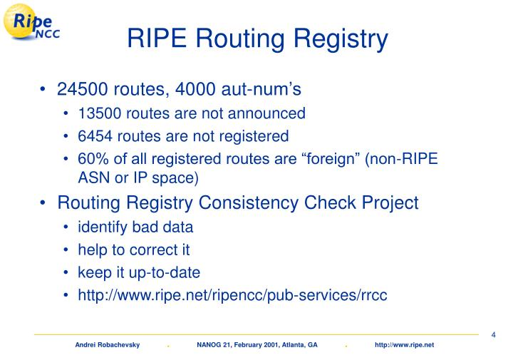 RIPE Routing Registry