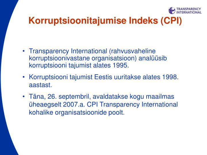 Korruptsioonitajumise Indeks (CPI)