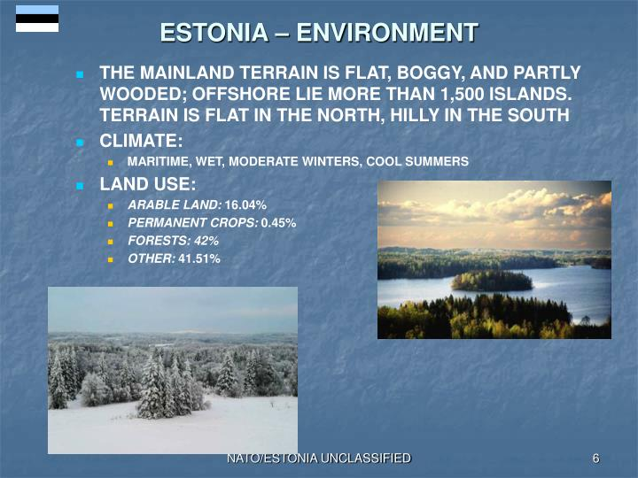 ESTONIA – ENVIRONMENT