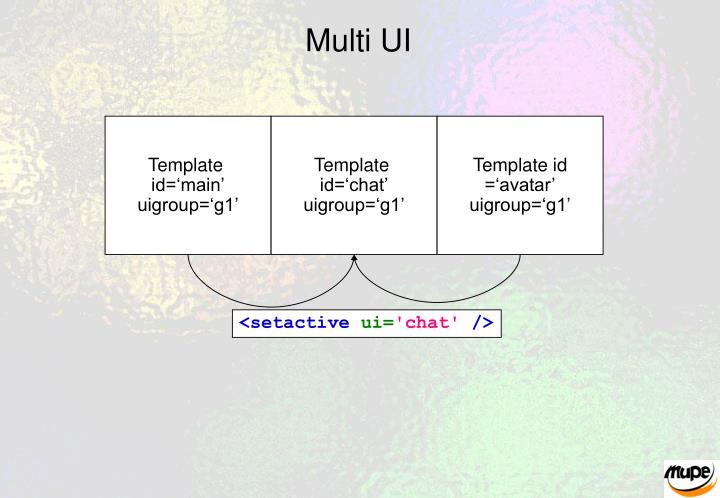 Multi UI