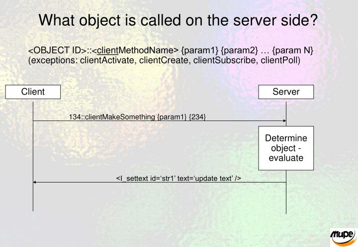 What object is called on the server side?