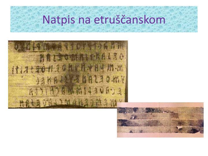 Natpis na etruščanskom