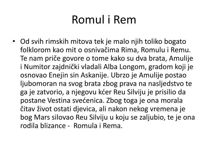 Romul i Rem